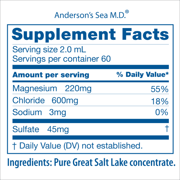 Andersons Sea M.D. Mineral Supplement