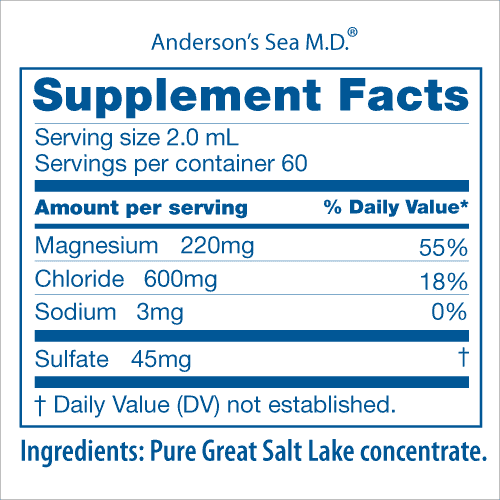 Sea MD Nutritional Facts Panel House Reser