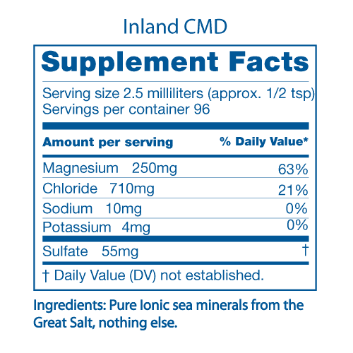 Inland CMD Supplement Facts Panel