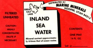 The history of mineral resources international began with Inland Sea Water in 1969 - vintage Inland Sea Water from that era